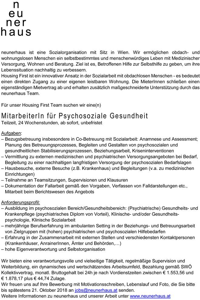 Mitarbeiter/in für Psychosoziale Gesundheit – behindertenarbeit.at