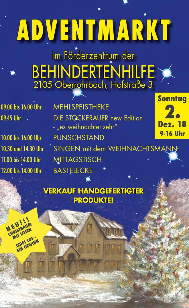 Adventmarkt Behindertenhilfe Bezirk Korneuburg 2018
