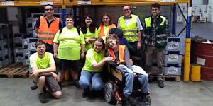 Menschen mit Behinderung in der Brauerei Zipf