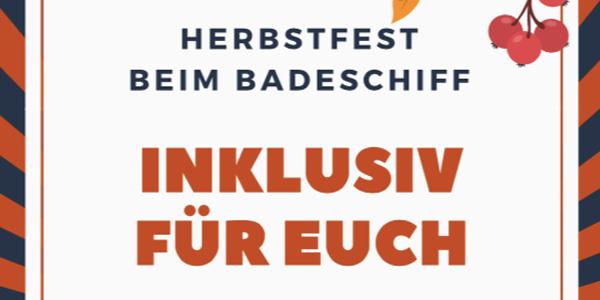 Inklusiv für euch: Das Herbstfest beim Badeschiff Wien