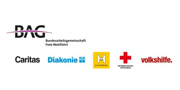 BAG Freie Wohlfahrt Caritas, Diakonie, Hilfswerk, Rotes Kreuz und Volkshilfe