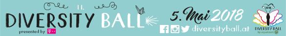 """Der 11. Diversity Ball findet am Samstag, 5. Mai 2018 im Kursalon Wien unter dem Motto """"Your time is now"""" statt. Mehr Infos: Hier klicken!"""