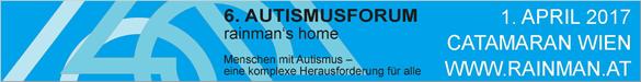 Rainman's Home veranstaltet am Samstag, 1. April 2017 in Wien das 6. Autismusforum zum Thema: Menschen mit Autismus – eine komplexe Herausforderung für alle. Mehr Infos: Hier klicken!