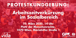 Protestkundgebung: Arbeitszeitverkürzung im Sozialbereich