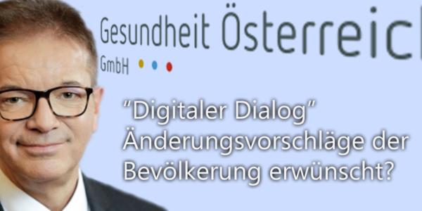 """""""Digitaler Dialog"""" Änderungsvorschläge der Bevölkerung erwünscht?"""