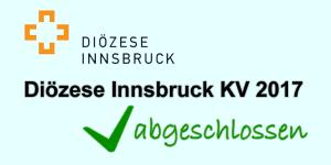 Diözese Innsbruck KV 2017 abgeschlossen