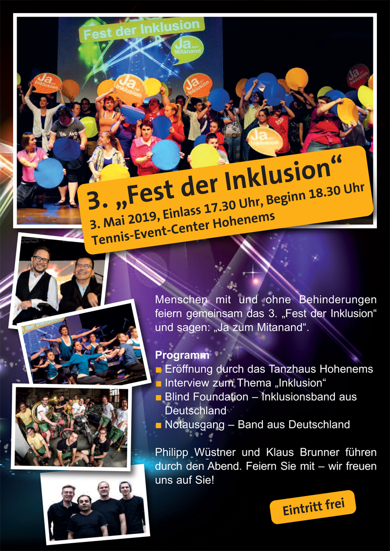 Fest der Inklusion 3.5.2019 Hohenems