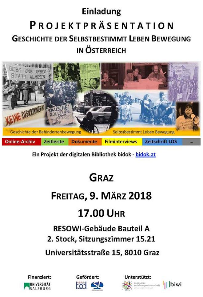ABGESAGT+++ Projektpräsentation: Geschichte der Selbstbestimmt-Leben ...