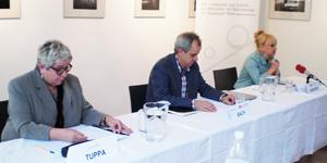 IVS-Pressekonferenz 13.05.2014. V.l.n.r.: Franziska Tuppa, Michael Bach, Marion Ondricek. Foto: behindertenarbeit.at