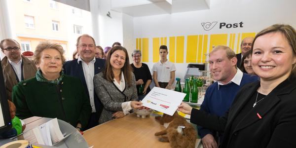 Soziallandesrätin Kampus eröffnet die Post Partner-Filiale
