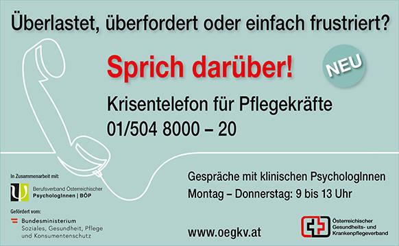 Krisentelefon für Pflegekräfte 01/5048000-20