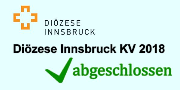 Kollektivvertrag Diözese Innsbruck 2018 abgeschlossen