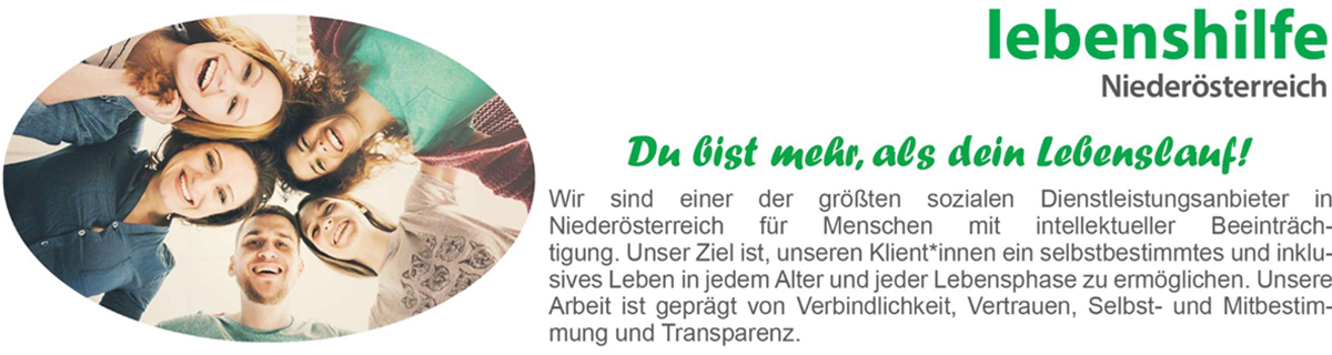 Stelleninserate JobPartner Lebenshilfe Niederösterreich