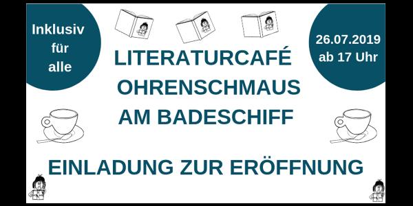 Eröffnung Literaturcafé Ohrenschmaus am Badeschiff Wien