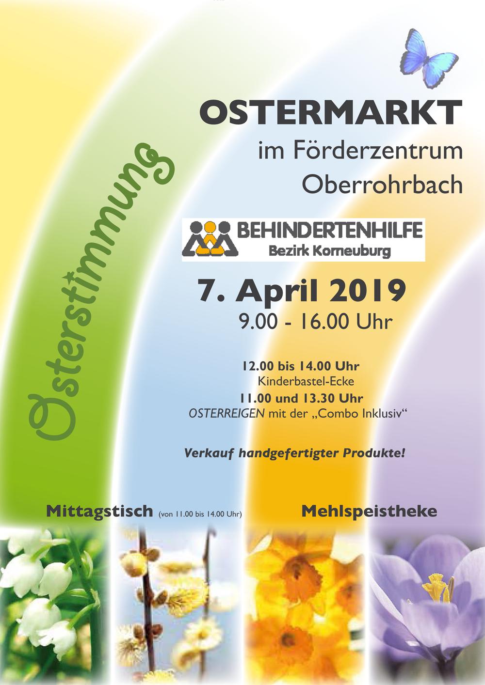 Ostermarkt Behindertenhilfe Bezirk Korneuburg