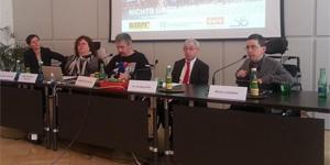 Meichenitsch (ÖAR), Feuerstein (SLIÖ), Fischer, Hofer (Behindertenanwaltschaft), Ladstätter (BIZEPS); Fotoquelle: ÖZIV