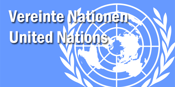 Grafik Flagge UNO United Nations Vereinte Nationen