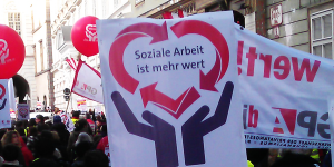 Soziale Arbeit Demo Foto