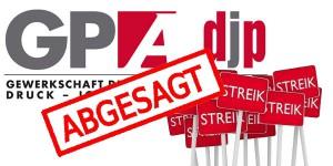 Streik abgesagt