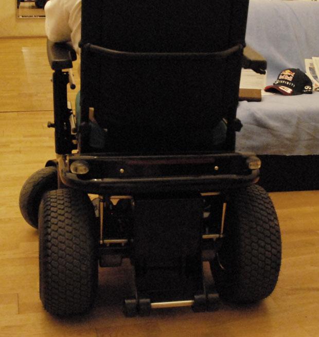 Wessely Rollstuhl Ansicht von hinten